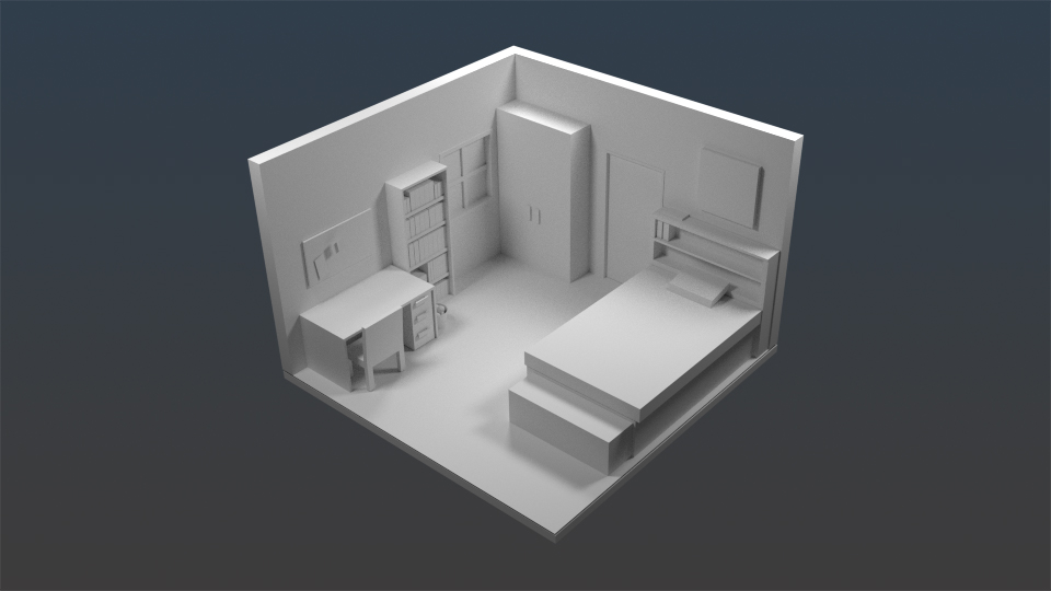 Olde tinkerer studio dorm room 3d model 3d room