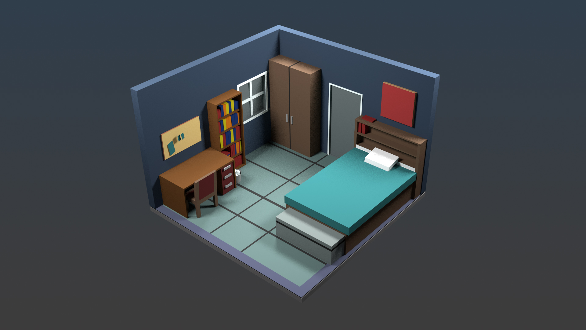 Olde tinkerer studio dorm room 3d model for Room modeling software